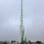 Goldwind turbine erection underway at the Cattle Hill Wind Farm site