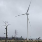 First Goldwind wind turbine installed at Cattle Hill Wind Farm in early May 2019